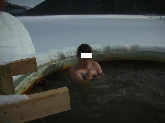 第一回秘湯研究会 然別コタン氷上露天風呂⑫