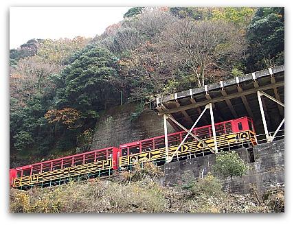 嵐山 保津川下り トロッコ列車とすれ違い