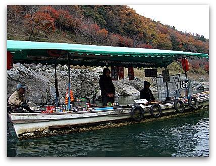 保津川下り 舟の売店