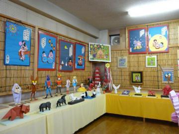 君田 折り紙博物館 教室内の作品