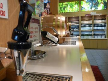 三次ワイナリー 物産館 ワイン試飲コーナー02