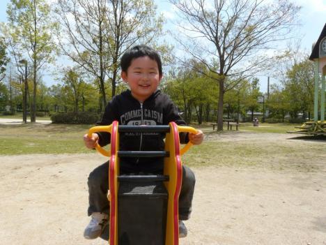 胡麻近隣公園 遊具施設 馬