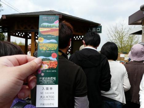世羅高原農場(チューリップ祭り)入場料