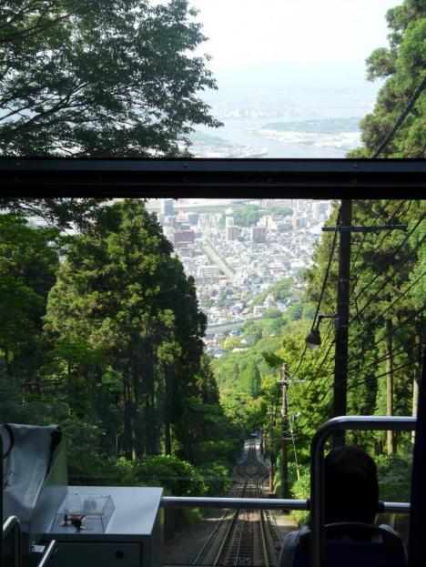 福岡県北九州市 皿倉山 その5 ケーブルカー 景色
