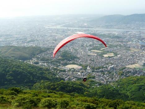 福岡県北九州市 皿倉山 その10 山頂 パラグライダー