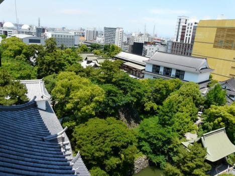 小倉城 天守閣からの風景 その1