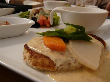 京の豆腐ハンバーグランチ 接写