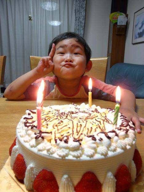 甥っ子 誕生日会 4歳