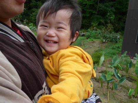 甥っ子の笑顔