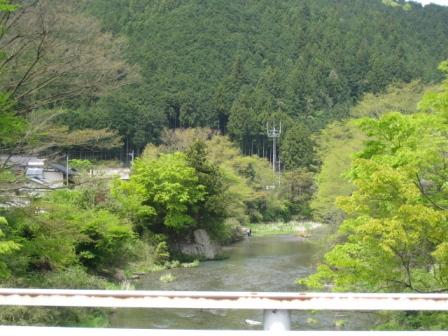 川が見えた