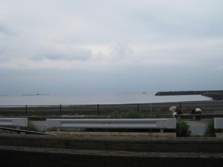 目の前は海