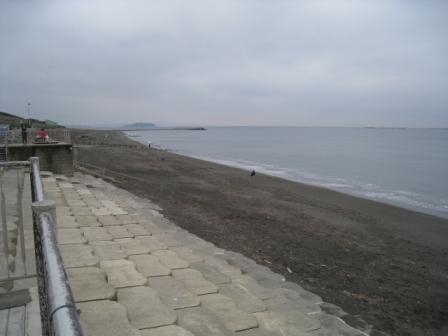 目の前には海
