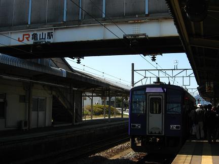 JR 亀山駅にて