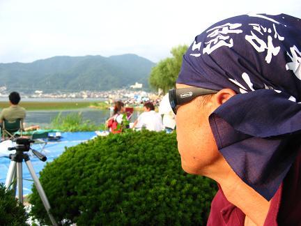 諏訪湖の花火大会・長い待ち時間