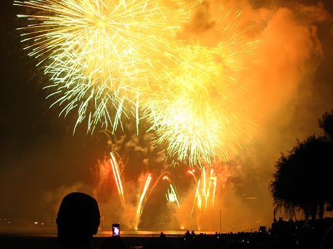 諏訪湖の花火大会 6