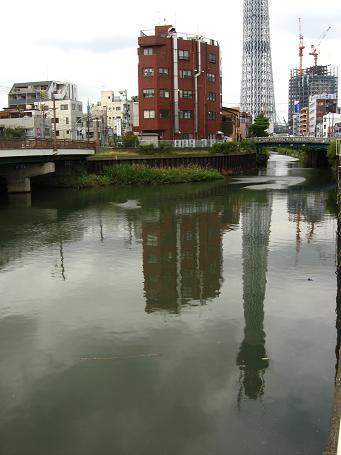 十間川に映るツリー 2