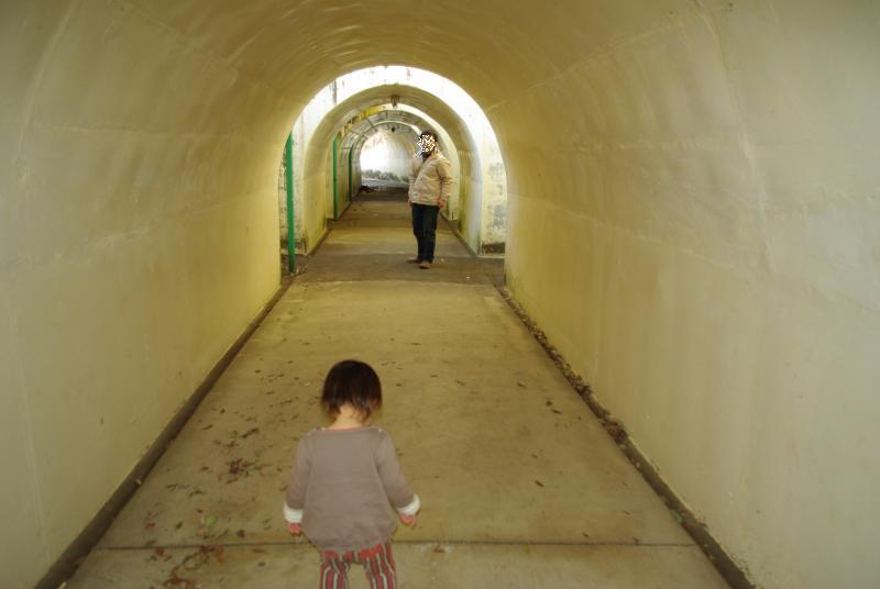 鹿沼運動公園のトンネル♪