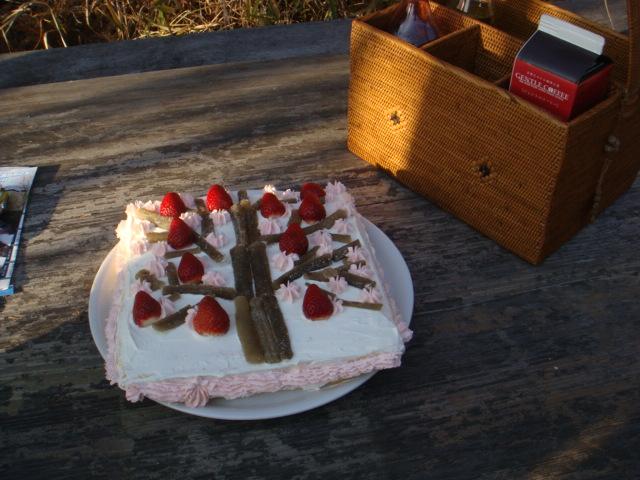 ツリーイングのケーキ