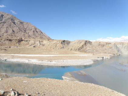 Indus and Zanskar river late Nov