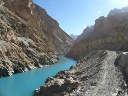 Zanskar river and new road
