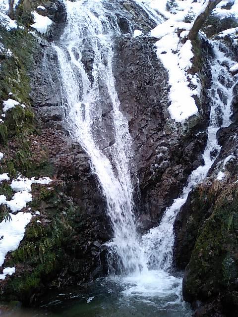 白糸神社20;不動滝と滝壺