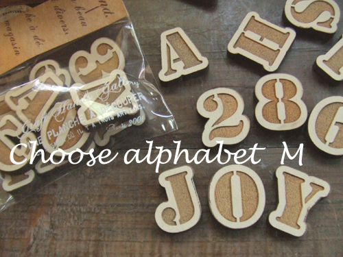 ハンドメイド副資材木製アルファベット