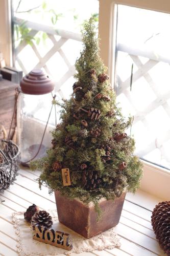 クリスマス雑貨:*木の実のフォレストツリー