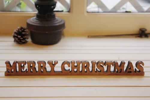 木製ミニクリスマスオーナメント