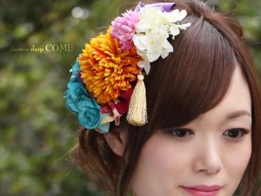 造花の髪飾り~成人式・卒業式にオススメ~
