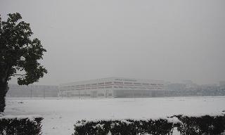 朝日&雪景色