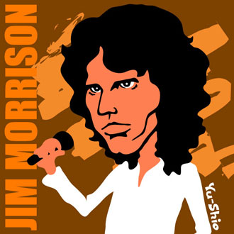 Jim Morrison Doors caricature