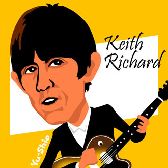 Keith Richard Rolling Stones caricature