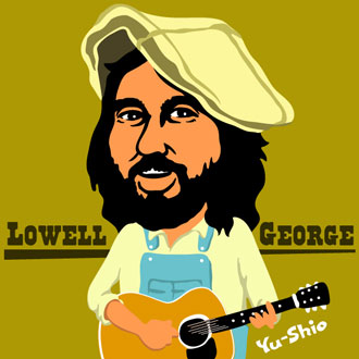 Lowell George caricature