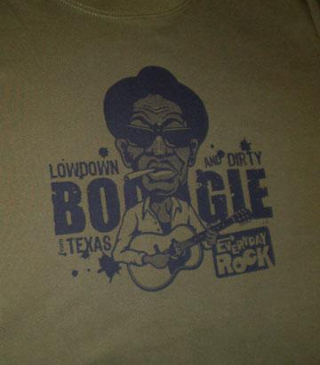 Lightnin' Hopkins EverydayRock T Shirt Caricature