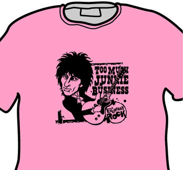Johnny Thunders EverydayRock T Shirt Caricature