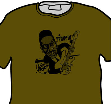 Ike Turner EverydayRock T Shirt Caricature