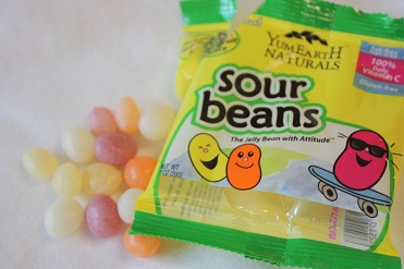 Yummy Earth, Naturals, Sour Jelly Beans, 10 Snack Packs, 20 g Each