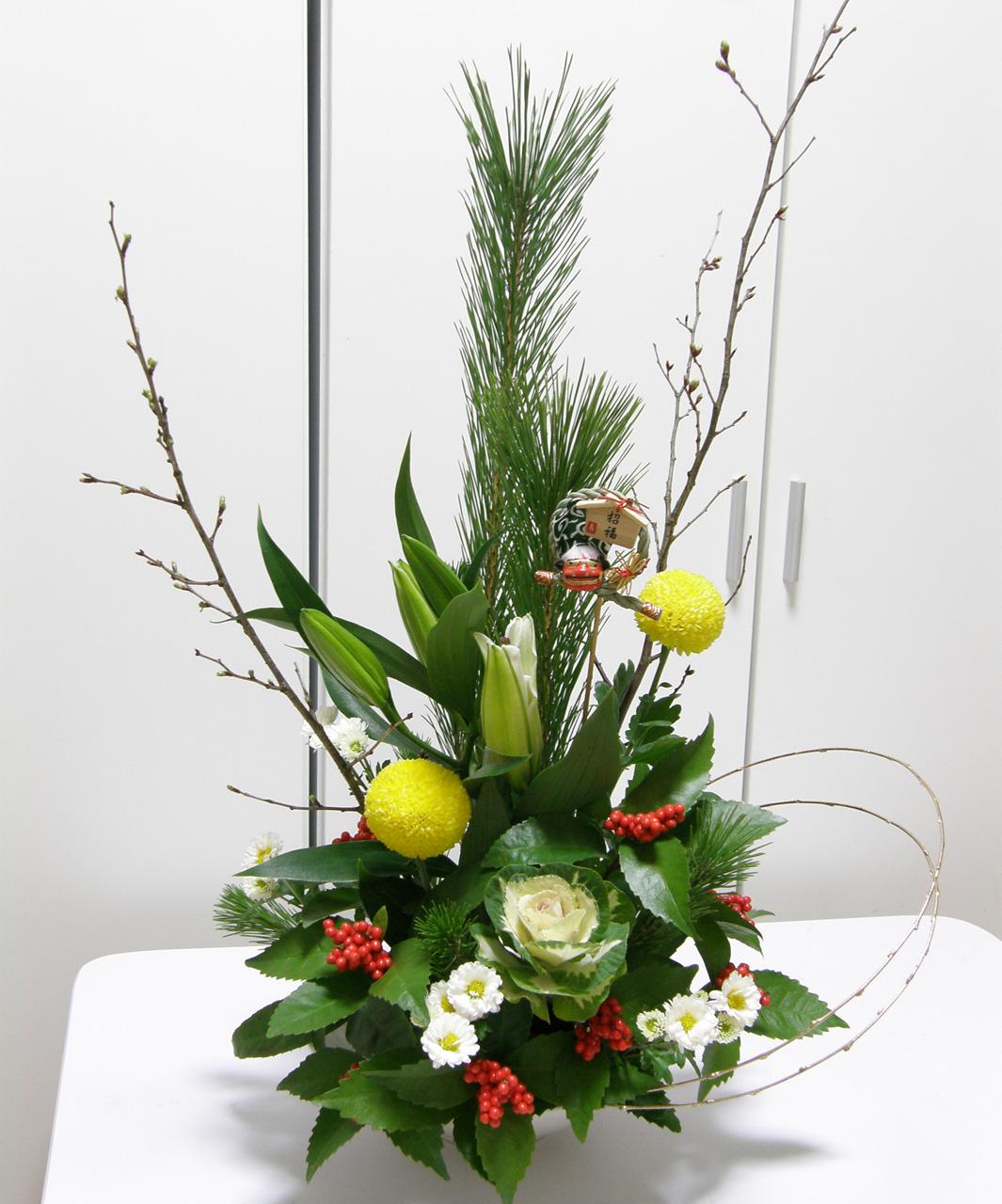 お正月のお花