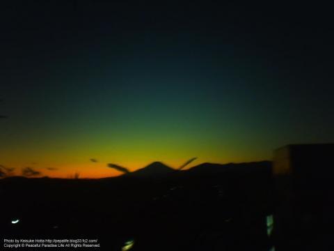 デジタルハリネズミ2で撮影した富士山