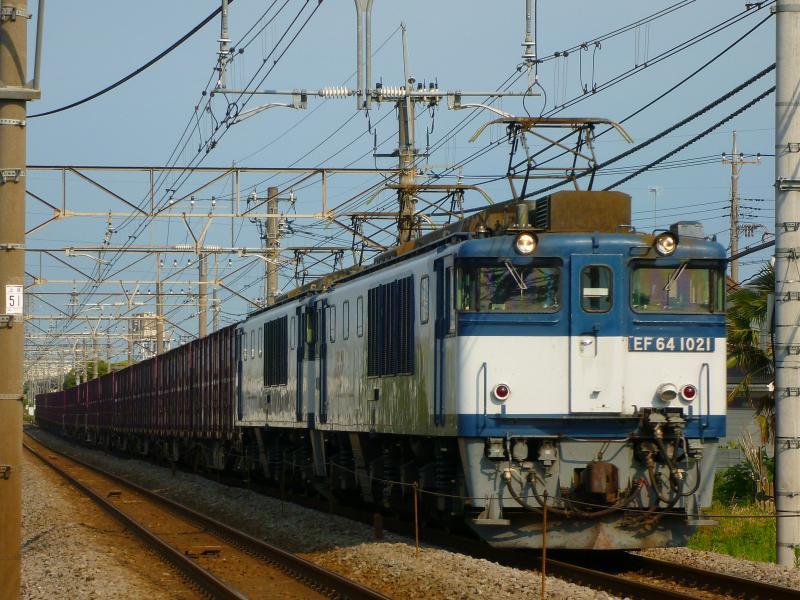 6/30 鉄道撮影記 夕立前の高崎線貨物列車撮影