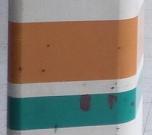 オレンジ色と緑色 (柱 その1)