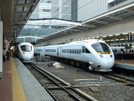 885系がいっぱい・・・ 博多駅にて