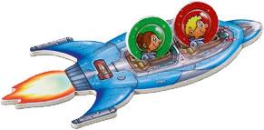 消えた宇宙船をさがせ!:宇宙船で飛び立つ