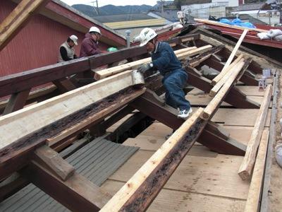 T邸屋根改修~屋根下地補修