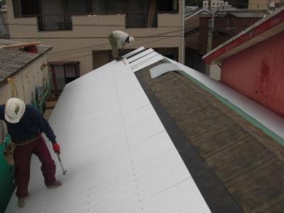 T邸屋根改修~屋根工事 完了