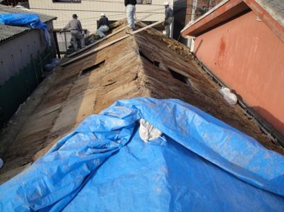 T邸屋根改修