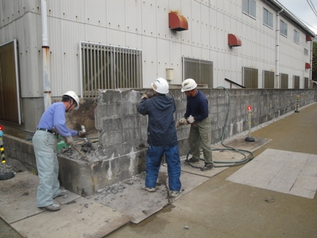 石垣改修工事 着手