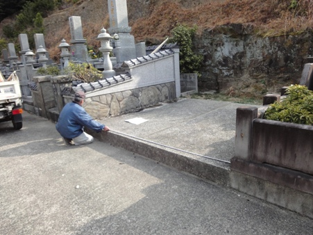 墓地工事着手