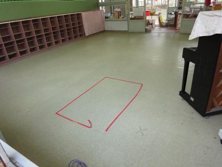 幼稚園床改修