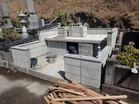 O家墓地工事 完了